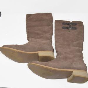 Emu Sz 9 / 8 Sheepskin Lining Suede Knee High Boot